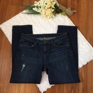 Jennifer Lopez Boyfriend Distressed jeans size 8